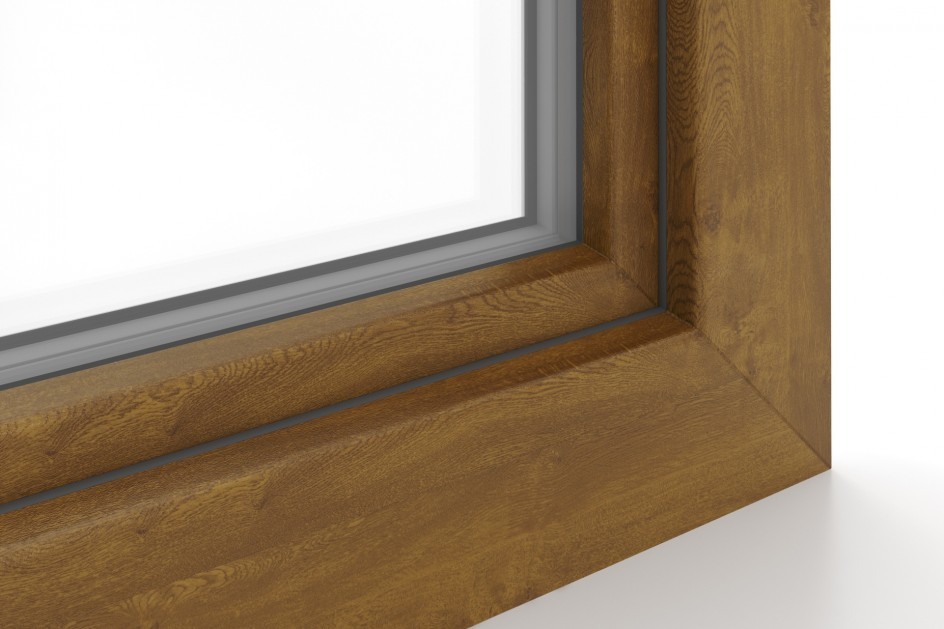 Window profiles with a wood finish